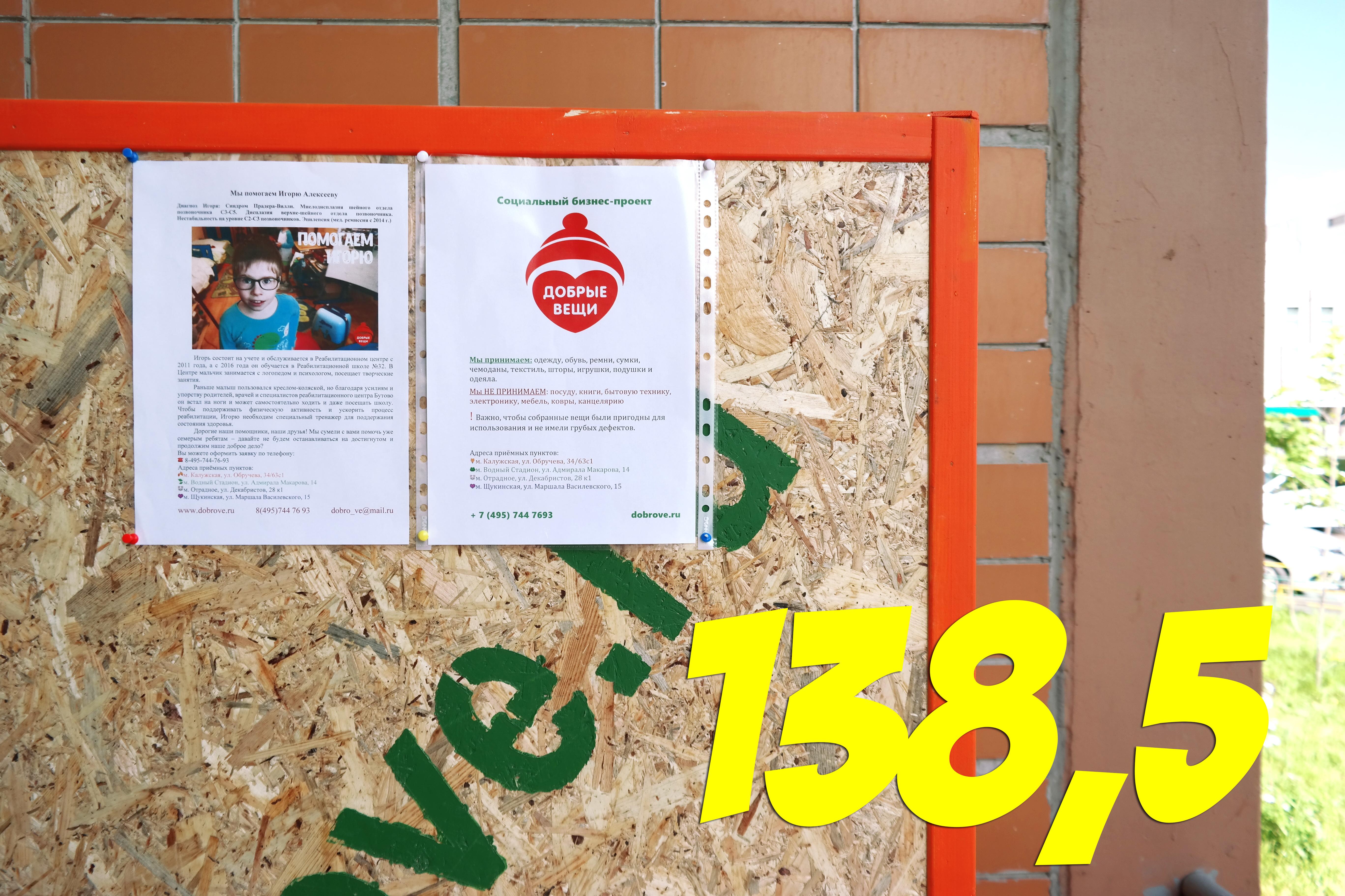 Отчет о собранных вещах в микрорайоне Синявинская 11