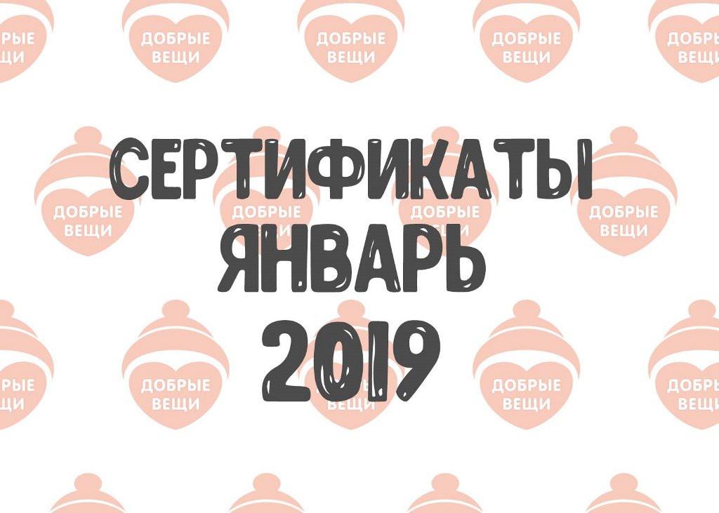 Отчет по выданным вещам в январе (2019 г.)
