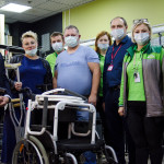 Недавно мы отвезли в Климовск ГАЗель средств реабилитации
